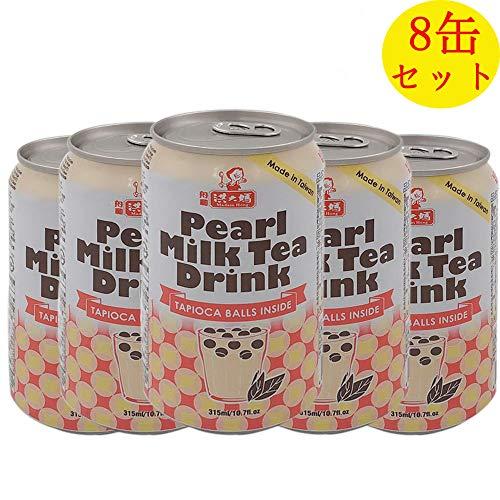 洪大媽 珍珠奶茶 タピオカミルクティー 315ml×8本