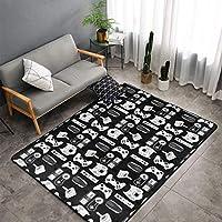 Ducos Non-Skid Super Soft Floor Carpet Machine Washable Rug