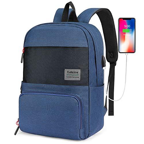 SOCKO Laptop-Rucksack, 39,6 cm (15,6 Zoll), leicht Blau blau 15.6 Inches