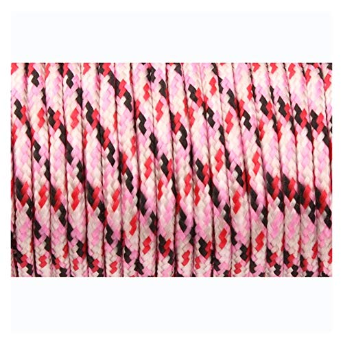 LaiYueShangMao Multi-functional 2mm 3 Strand Paracord Core Outdoor Camping Rope Parachute Cord Lanyard Tent Multifunction Corda for Camping Outdoor Garden (Color : Pink camo, Length(m) : 50meters)