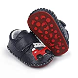 ENERCAKE Baby Boys Girls Shoes Soft Sole Walking Sneakers Cartoon Moccasins Crawling Slippers Infant Toddler Crib First Walkers(12-18 Months Toddler, G-Navy car)