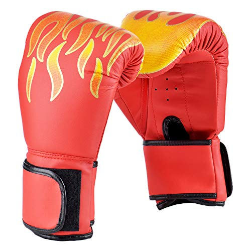 Wuudi - Guantes de boxeo para niños para entrenamiento, 6 onzas, para niños de 3 a 14 años, muay thai, sparring, grappling, kickboxing, almohadillas de enfoque, guantes de boxeo