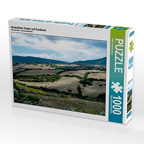 CALVENDO Puzzle Herbstliche Felder auf Sardinien 1000 Teile Lege-Größe 64 x 48 cm Foto-Puzzle Bild von Ulrike Steinbrenner