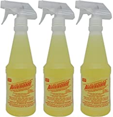 Receive 3 bottles of LA's Totally Awesome - each bottle is 20 fl. oz. No Acid, No Ammonia, No Bleach, Non-Flammable Cleans everything washable Removes: blood stains, grease, wine, liquor, gum, oil, glue, coffee, pet stains, fresh paint, some inks, va...