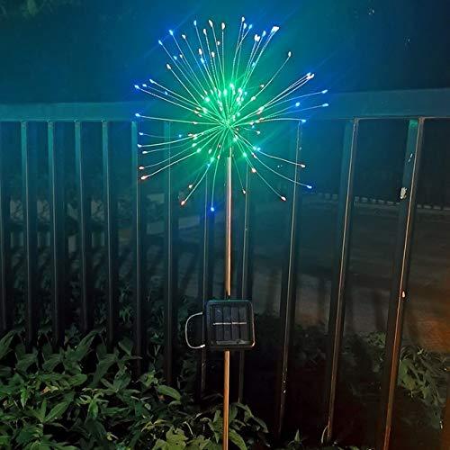 LIUYU Guirnalda de luces solares para decoración de jardín, luces de hadas, lámparas solares para exteriores (color emisor: 1 pieza, color: 0 5 W)