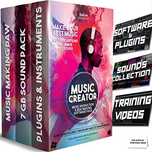 Music Software Bundle for Recording, Editing, Beat Making & Production - DAW, VST Audio Plugins, Sounds for Mac & Windows PC