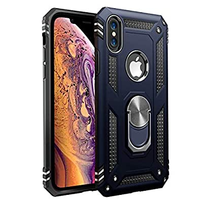 iPhone X Case | iPhone Xs Case [ Military Grade ] 15ft. Drop Tested Protective Case | Kickstand | Wireless Charging | Compatible with Apple iPhone X | iPhone Xs-Royal Blue