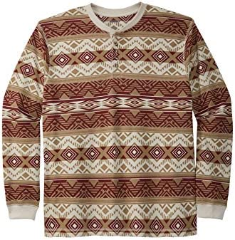 KingSize Men s Big Tall Waffle Knit Thermal Henley Tee Tall 5XL Aztec Long Underwear Top product image