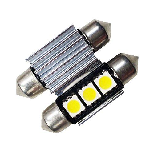 LIGHTEU®, 2x 36mm, 3 LED CMS, fusible feston, intérieur tubulaire, ampoule de voiture, plaque d'immatriculation, plaque d'immatriculation, Canbus gratuit