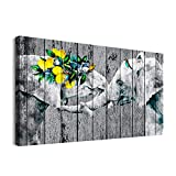 Inspiration Animal Canvas Wall Art for Bedroom Bathroom Decorations Living Room Wall Decor paintings Artwork Canvas prints Wood grain Black and white elephant Pictures Ready to Hang Home Decoration