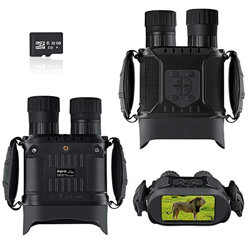Bestguarder NV-900 4.5-22.5X40mm Digital Night Vision Goggles Binocular with Timelapse -Large Screen Infrared Spy Gear for Hunting and Surveillance for Complete Darkness with 32G Memory Card