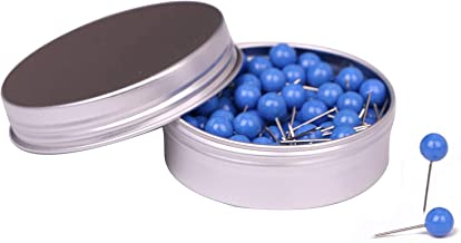 Tupalizy 100PCS 1/4 Inch Small Round Head Map Tacks Pins for Home Office Bulletin Cork..