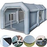 Husuper 6*3*2.5m Aufblasbares Lackierkabine Zelt Spray Booth Tent Zelt Luftzelt Campingzelt Lackierkabine Mit 2 Gebläsen