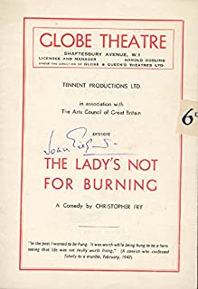 Sir John Gielgud - Program Signed Circa 1949