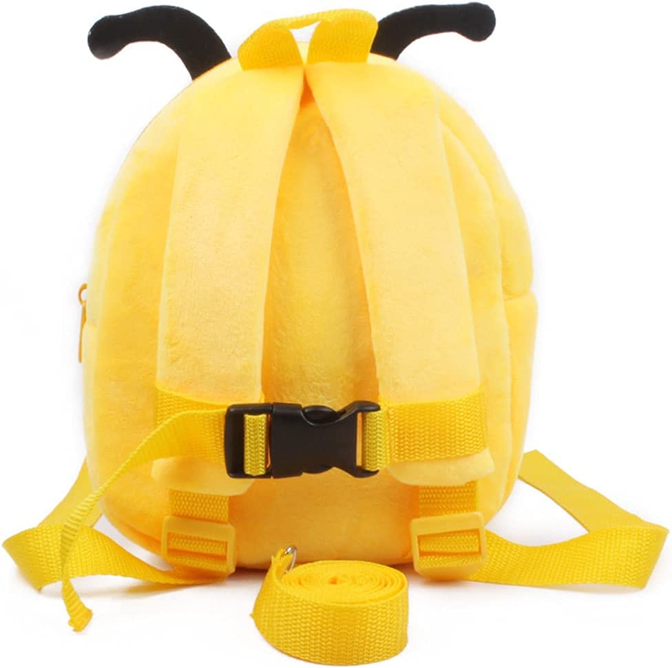 Toddler Backpack Anti-Lost Plush Mini Daypack Animal Cartoon Bag for Baby Girl Boy (Pink-Rabbit)