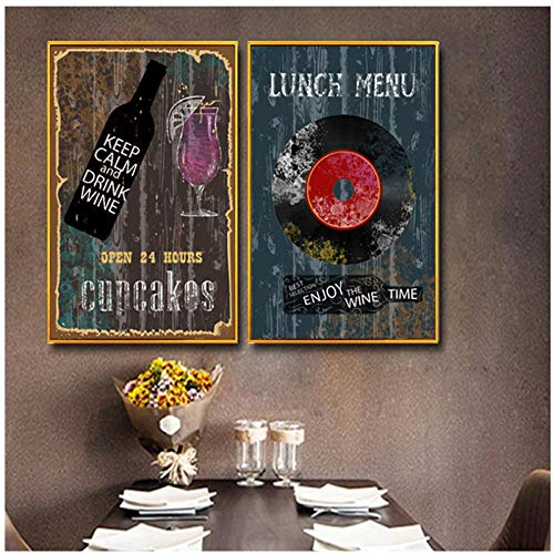 Champagne Bar Metal Wall Sign Plaque Art Inspirational