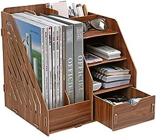 Baibao Escritorio estantería de múltiples Funciones de Madera de Escritorio Bookshelf- Bricolaje turística de Ordenamiento del gabinete Cosméticos Caja de Almacenamiento ordenado (Color: 4)