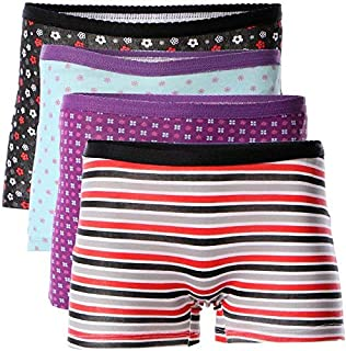 Carina Underwear Shorts for Women - Pack of 4 Shorts - Printed