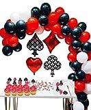 Casino Party Decoration Supplies Set: Casino Balloons, Latex Balloon with Casino Confetti for Casino Theme Party,Las Vegas Themed Parties,Casino Night ,Poker Events,Casino Birthday Décor …