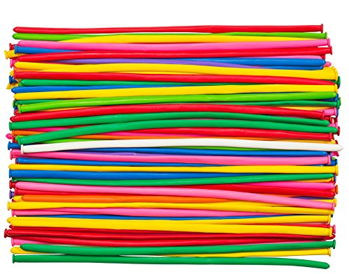 100 Premium Twisting Balloons – Refill Kit for Balloon Animals Art. Long Sculpting balloons for Professionals
