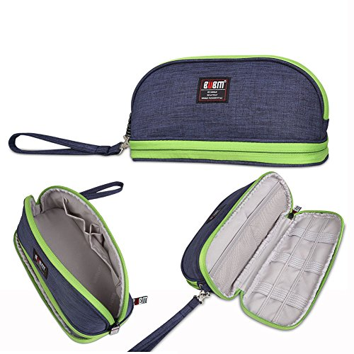 BUBM Small Purse Toiletry Handbag Cosmetic Case Makeup Storage Bags Pouch Travel Kit Organizer (Blue)