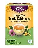 Yogi Tea, Triple Echinacea Green Tea, 16 Count (Pack of 6), Packaging May Vary