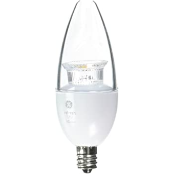 High Definition B11 Blunt Tip Clear Candelabra Base Dimmable LED Light Bulb Equivalent Daylight 4 Bulbs 5000K