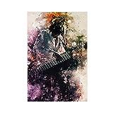 Poster sur toile avec chanteur Jean Michel Jarre - Décoration murale pour salon, chambre à coucher - Sans cadre - 50 x 75 cm