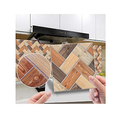 Fliesenaufkleber, DIY, Home Decoration, U-Bahn-Peel & Stick Selbstklebende Splashback, Geeignet für Wohnzimmer, Küche, Badezimmer usw-W-12._15 * 15 cm / 40 stücke