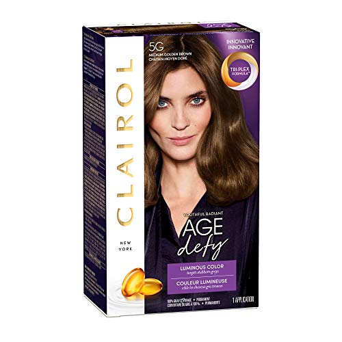 Clairol Age Defy Permanent Hair Color, 5G Medium Golden Brown, 1 Count