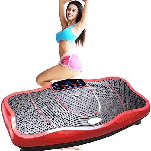 ZXL Vibratieplaat voor fitness, afstandsbediening 99 snelheidsinstelling, machine met laag geluidsniveau, vetbrander, fitnessmachine voor de voet, magnetisch, shiatsu