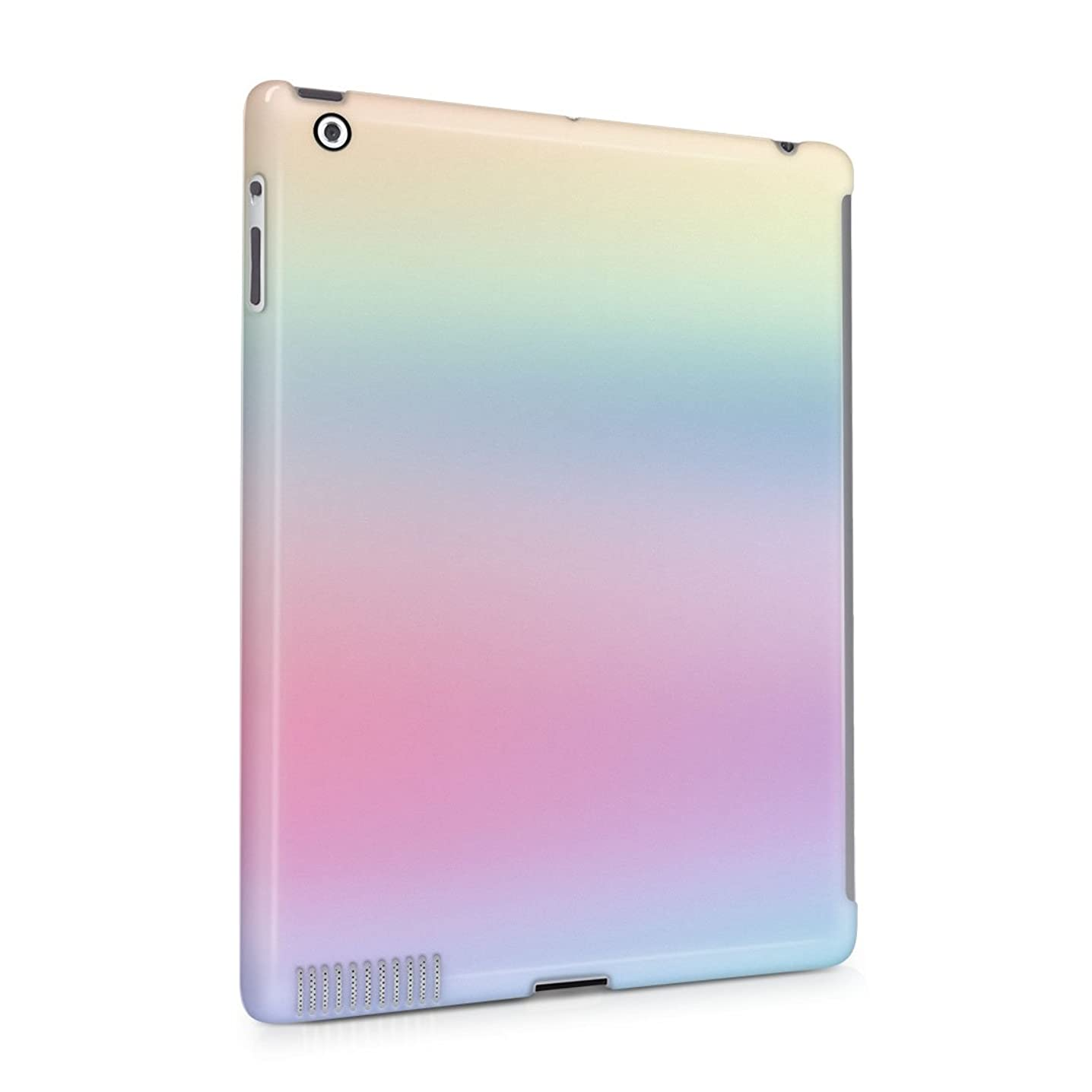Trippy Rainbow Color Spectrum Plastic Tablet Snap On Back Cover Shell For iPad 2 & iPad 3 & iPad 4