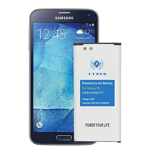 LTZGO Batterie Interne Remplacement Compatible pour Samsung Galaxy S5 2910mAh Modèle I9600, G900F, G900V (Verizon), G900T (T-Mobile), G900A (AT&T), G900P (Sprint) Correspond à l'EB-BG900BBE EB-BG900