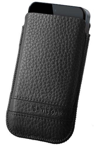 Samsonite Slim Classic Sleeve case Negro - fundas para teléfonos móviles (74 mm, 10 mm, 132 mm)