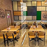 Pantalla de protección independiente para el mostrador, para pisos, pisos, pantalla de visualización de pantalla para restaurantes, salones de pelo, gimnasios, 6 (color 80 x 200 cm)