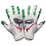 Battle Sports Science Adult Villain Football Gloves Purple/Green/White L