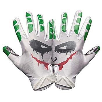 Battle Sports Villain Ultra-Stick Football Receiver Gloves for Adults