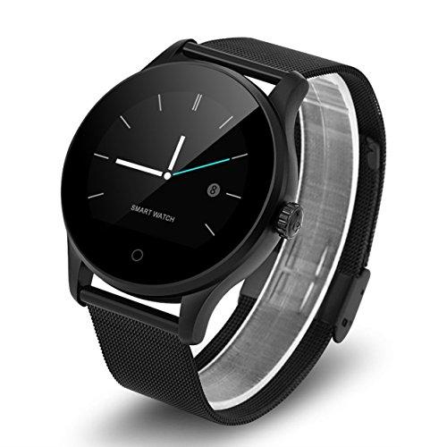 K88H Smart Watch Tracker orologio da polso cardiofrequenzimetro sportivo con pedometro Dialing Smartwatch Phone per Android IOS (Colore: nero)