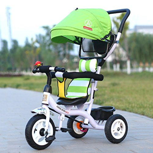 Kinderfahrräder, Dreiräder, Klappräder 1-6 Jahre alt, Kinderwagen, abnehmbare Stoßstangen, Markisen ( Size : Titanium empty wheel )