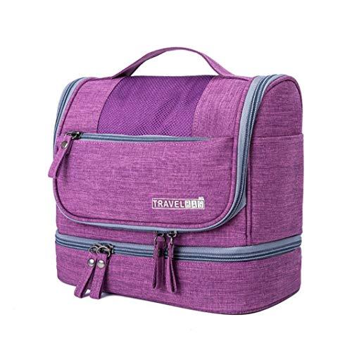 CYBERNOVA Bolsa de Aseo para Viajes, Kit Grande de Organizador cosmético Resistente al Agua, Bolsa de Aseo compacta Hombres y Mujeres (púrpura)