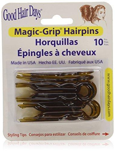 Magic Grip Hair Pins Set of 10 by Good Hair Days Color: Shell