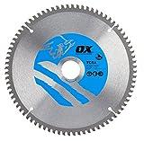 OX Tools OX-TCTA-2163080 OX Hoja de Sierra Circular de Corte de Aluminio/plástico/Laminado Dientes, 0 V, Silver/Blue, 216/30mm, 80 Teeth TCG