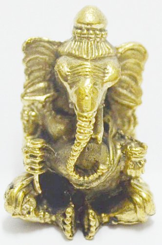 Thailand Only Lord Ganesh Ganesha Elephant God Hindu Thai Mini Amulet Success Win All Obstacle