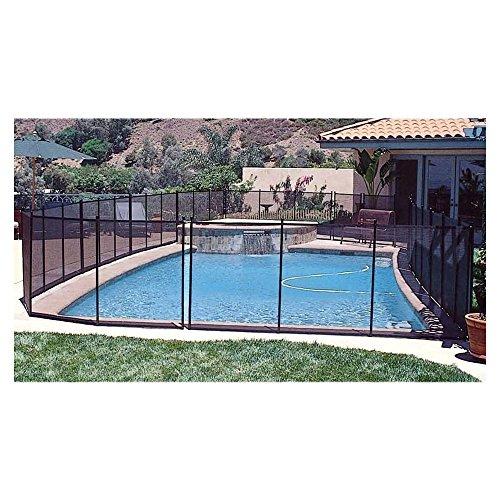 GLI 30-0410-BLK 4' x 10' IG Safety Removable Fence 30-0410-BLK