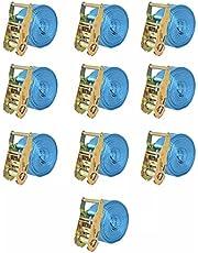 Correas de sujeción de trinquete 10 uds 2T 6mx38mm azul