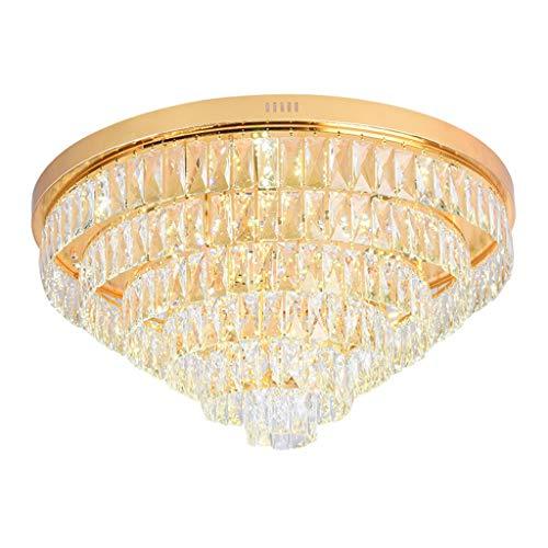 STAGE LIGHTING Lustre En Cristal - Style Américain Simple Rond 2018 Nouveau Lustre En Cristal De Salon (taille : 60 * 35cm)