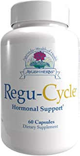Ayush Herbs Regu-Cycle, All-Natural Certified Organic Ayurvedic Herbal Supplement for Female Reproductive Health, Hormonal...