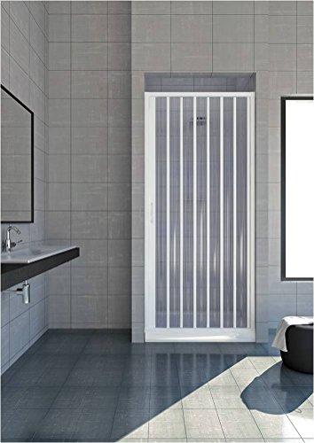 GRANISUD Douchecabine van PVC voor Nicchia melkopschuimer met een deur breedte 170 cm, hoogte 185 cm, wit