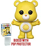 Funko Pop! Animation: Care Bears - Funshine Bear Vinyl Figure (Bundled with Pop Box Protector Case)