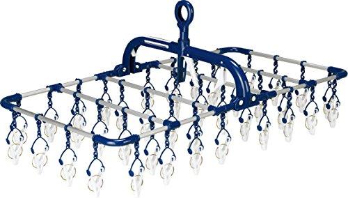 ツウィンモール 洗濯物干し横もちアルミハンガー ネイビー 40ピンチ BEILU BE-01N